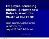Employee Screening Rights: 3 Must ...