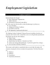 Employment Legislation MBA - HRM  N...