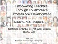 Empowering Teachers Through Collaborative Professional Development
