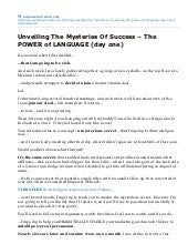 Unveiling The Mysteries Of Success ...