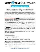 Empower Network Compensation Plan Pdf