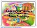 Empower Students with Power Strategies: Research-based Approaches for Nonfiction