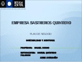 Empresa sastreros quintero power point