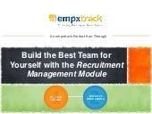 EmpXtrack's Recruitment Management System - Datasheet