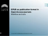 EPUB as publication format in Open ...