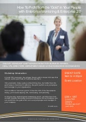 Enterprise MENTOR Workshop Brochure