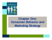 BB Chapter One: Consumer Behavior a...