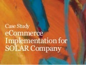 eCommerce for SOLAR Company (fashion)