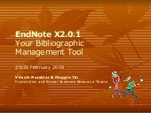 EndNote X2 Workshop for FASS Gradua...