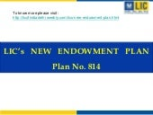 LIC's New Policy Endowment Plan Tab...