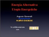 Energia Alternativa e Utopie Energe...