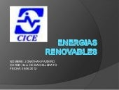 Energias renovableENERGIAS RENOBABLES