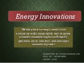Energy innovation