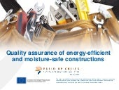 Energy efficient construction and training practices - 10 Quality assurance