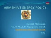 Energy policy armenia hasmik manukyan