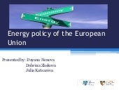 Energy policy of the european union...