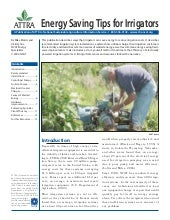 Energy Saving Tips for Irrigators
