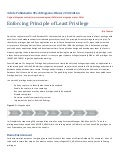 Enforcing principle of least privilege