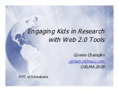 Engaging Kids In Research With Web 2.0 Tools