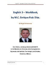 English 3   work book, by m.c. enri...