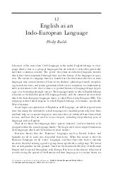 English as an indo european languag...