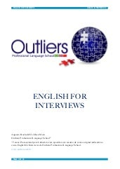 Apostila English for interviews - O...