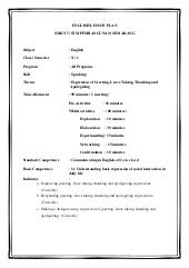 English lesson plan kd 1.1.1