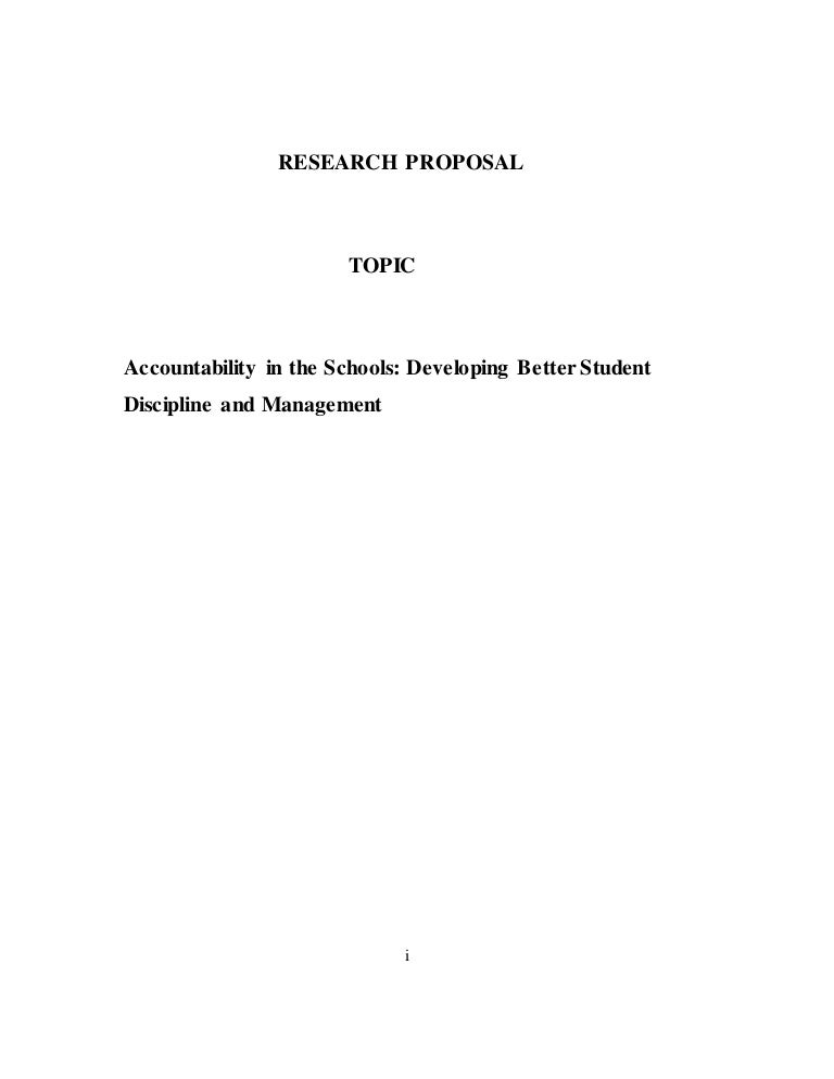 Research proposal conclusion