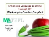 Enhancing language learning through...