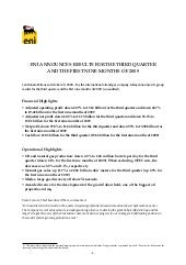 Eni Press Release 2009 Third Quarte...