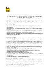 Eni 2010 4Q Results and full year r...