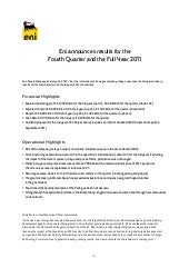 Eni 2011 4Q Results and full year r...