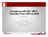 EN ISO 14971 - Transitioning to 200...