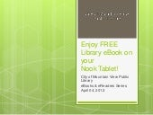 Enjoy free library e book on your N...