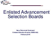 Selection Board Brief FY15-16