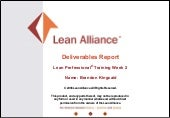 Lean Professional Deliverables - We...