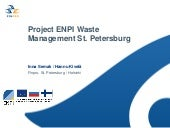 Project ENPI Waste Management St. P...