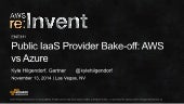 (ENT311) Public IaaS Provider Bake-off: AWS vs Azure | AWS re:Invent 2014