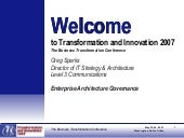Enterprise Architecture Governance:...