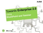 Enterprise 2.0 using sharepoint and...