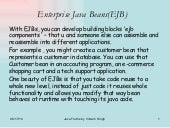 Enterprise java beans(ejb)