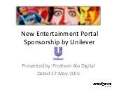 Entertainment portal sponsorship.