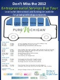 Pure Michigan Entrepreneurial Bus Tour 2012 Schedule