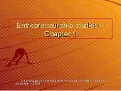 Chapter 1 on Entrepreneurship
