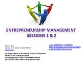 Entrepreneurship management session...
