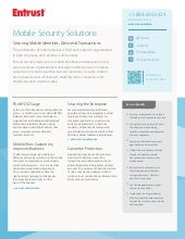 Entrust Mobile Security Solutions