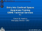 Entry into Confined Spaces