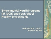Environmental Health Programs