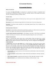 Environmental chemistry (notes)12IE...