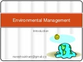 Environmental management intro